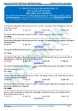 Luyện thi ĐH KIT 1 (Đặng Việt Hùng) - Lý thuyết về mạch dao động điện từ (đáp án bài tập tự luyện)