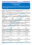 Luyện thi ĐH KIT 1 (Đặng Việt Hùng) - Đề luyện tập tổng hợp số 3 (Bài tập tự luyện)