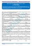 Luyện thi ĐH KIT 1 (Đặng Việt Hùng) - Bài tập tự luyện Vật lý: Một số bài toán về dao động tắt dần (P1)