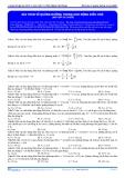 Luyện thi ĐH Môn Lý: Bài toán về quãng đường trong dao động điều hòa