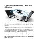 Cách phát Wifi trên Windows 8 không cần dùng phần mềm