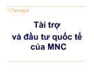 Bài giảng Tài chính quốc tế ( Đại học công nghiệp TP Hồ Chí Minh) - Chương 6
