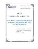 Đề án nghiên cứu marketing: Các yếu tố ảnh hưởng đến nhu cầu sử dụng cà phê nguyên chất trên thị trường TP.Hồ Chí Minh