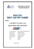 Báo cáo thực tập tốt nghiệp: Cải tiến và nâng cao hoạt động PR cho kênh HTV3