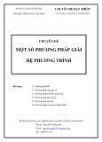 Chuyên đề:  Một số phương pháp giải hệ phương trình