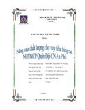 Báo cáo thực  tập tốt nghiệp: Nâng cao chất lượng cho vay tiêu dùng tại NHTMCP Quân Đội Chi nhánh An Phú
