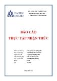 Báo cáo thực tập nhận thức: Công ty May mặc Quảng Việt  - ĐH Hoa Sen