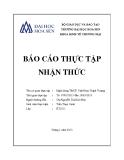 Báo cáo thực tập nhận thức: Ngân hàng TMCP Việt Nam Thịnh Vượng