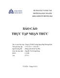 Báo cáo thực tập nhận thức: Công ty TNHH Trường Ngoại Ngữ Dương Minh