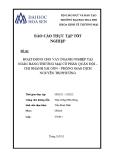 Báo cáo thực  tập tốt nghiệp: Hoạt động cho vay doanh nghiệp tại ngân hàng TMCP Quân đội – Chi nhánh Sài Gòn – Phòng giao dịch Nguyễn Tri Phương