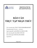Báo cáo thực tập nhận thức: Công ty TNHH  phần mềm Minh Mỹ