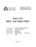 Báo cáo thực tập nhận thức: Công ty TNHH Tiên Nam Khang