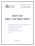 Báo cáo thực tập nhận thức: Chi nhánh Công ty CP TM Sabeco Tây Nguyên