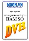 Bài giảng trọng tâm hàm số - Đặng Việt Hùng