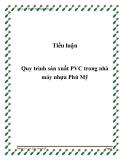 Tiểu luận: Quy trình sản xuất PVC trong nhà máy nhựa Phú Mỹ