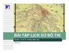 Bài tập lịch sử đô thị -  Lý luận thành phố chuỗi và xu thế phát triển