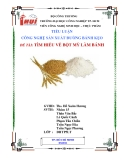 Tiểu luận: Tìm hiểu về bột mỳ làm bánh