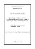 Tóm tắt luận văn thạc sĩ: Quản trị quan hệ khách hàng tại Chi nhánh Ngân hàng Nông nghiệp và Phát triển Nông thôn tỉnh Kon Tum