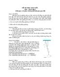 Đề thi học sinh giỏi môn Vật lý 8 (có hướng dẫn chấm điểm)