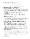 Đề thi thử Đại học môn toán 2014  lần 1 Trường THPT Chuyên Amsterdam (có đáp án)