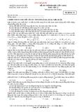 Đề thi thử đại học môn vật lý lần 1 năm 2014 mã đề thi 111 ( Sư phạm Hà Nội )