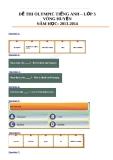 Đề thi Olympic Tiếng Anh lớp 5 (Vòng huyện) -  Năm học: 2013-2014