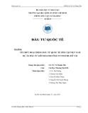 Tiểu luận: Tổ chức đầu tư quốc tế tại Việt Nam dự án đầu tư liên doanh Công ty Itochu - Mỹ Tài