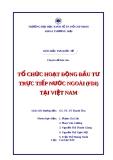 Tiểu luận: Tổ chức hoạt động đầu tư trực tiếp nước ngoài tại Việt Nam