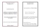 Tóm tắt luận văn thạc sĩ: Nghiên cứu các nhân tố tác động đến sự hài lòng của khách hàng du lịch quốc tế tại khách sạn Green Plaza - Đà Nẵng