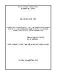 Tóm tắt luận văn thạc sĩ: Nghiên cứu ảnh hưởng của thuế thu nhập doanh nghiệp đến sự lựa chọn chính sách kế toán của doanh nghiệp trên địa bàn thành phố Đà Nẵng