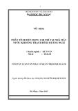 Tóm tắt luận văn thạc sĩ: Phân tích biến động chi phí tại nhà máy nước khoáng Thạch Bích Quảng Ngãi