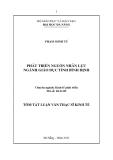 Tóm tắt luận văn thạc sĩ: Phát triển nguồn nhân lực ngành giáo dục tỉnh Bình Định