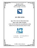 Tiểu luận: Thực trạng sử dụng công cụ tài chính phái sinh để phòng ngừa rủi ro tỷ giá tại NHTMCP Á Châu