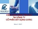 Báo cáo: Kiểm toán hàng tồn kho tại công ty cổ phần xây dựng Cotec