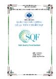 Tiểu luận quản trị chất lượng: Tiêu chuẩn SQF