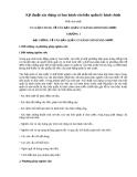 Kỹ thuật xây dựng và ban hành văn bản quản lý hành chính