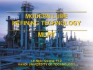 Modern lube refining technology - Part 1