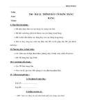 Giáo án Tin học 6 bài 21: Trình bày cô đọng bằng bảng