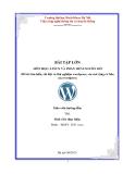 Đề tài: Tìm hiểu, cài đặt và thử nghiệm wordpress, các mở rộng cơ bản của wordpress