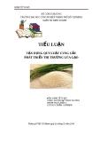Tiểu luận: Vận dụng quy luật cung cầu phát triển thị trường lúa gạo