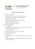 Đơn xin thực tập và hồ sơ đăng ký tại SHB