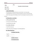 Giáo án Tin học 6 bài 14: Soạn thảo văn bản đơn giản