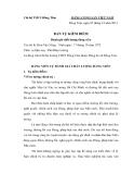 Mẫu bản tự kiểm điểm của Chi bộ THCS Đồng Tâm