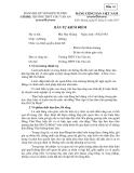 Mẫu bản tự kiểm điểm của Chi bộ trường THPT Chu Văn An