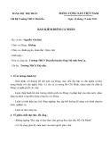 Mẫu bản kiểm điểm cá nhân của Chi Bộ Trường THCS Thị trấn