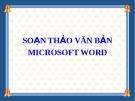 Bài giảng Soạn thảo văn bản Microsoft word