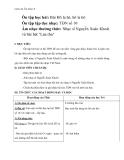 Giáo án Âm nhạc 6 bài 8: ANTT: Nhạc sĩ Nguyễn Xuân Khoát và bài hát Lúa thu