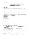 Giáo án Âm nhạc 6 bài 6: Tập đọc nhạc: TĐN số 7
