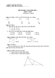 Đề thi học sinh giỏi toán 1 - Trường tiểu học Bãi Bồng
