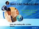Báo cáo thảo luận: Tiềm năng, thực trạng phát triển thương mại Việt Nam